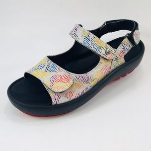 Wolky Rio White Multi Canals Sandals